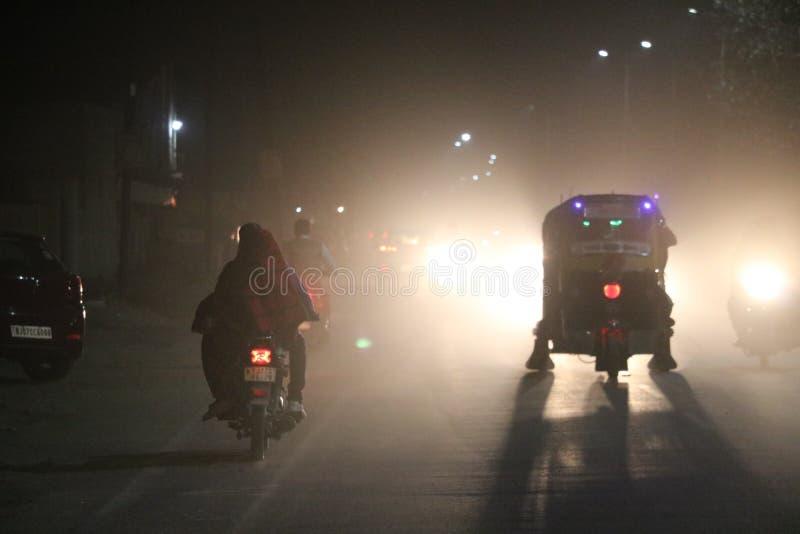 Nachtwinterkultur stockfotos