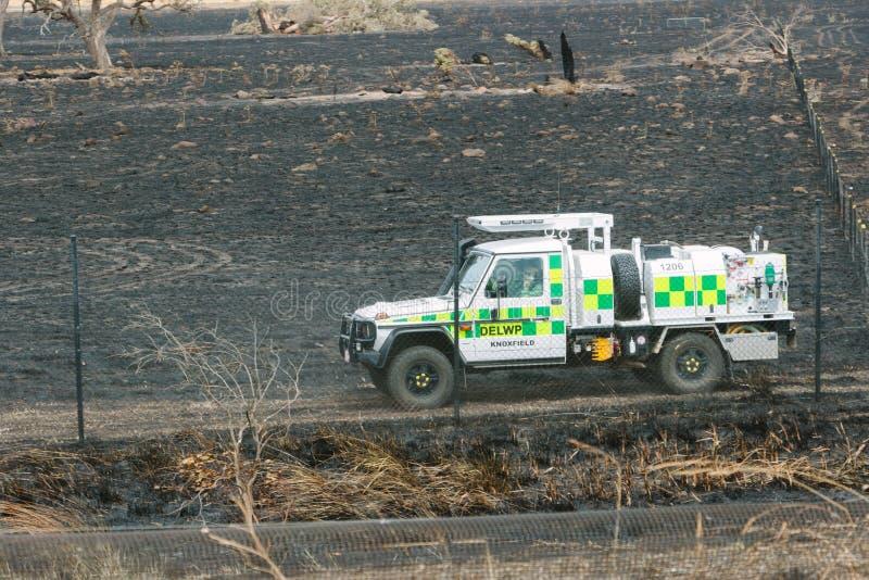 Nachwirkungen der Epping-Bushfires lizenzfreie stockfotos