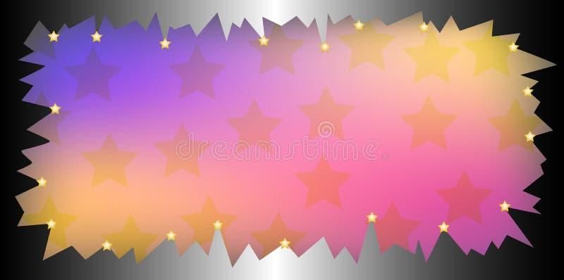 nachylenie ramowych gwiazdy ilustracji