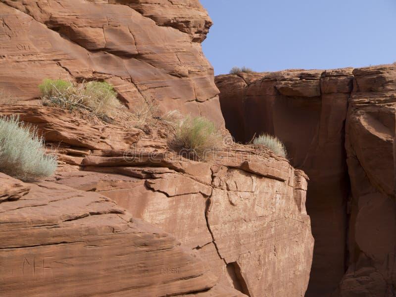 Nación de Navajo del barranco del antílope, página, Arizona fotos de archivo
