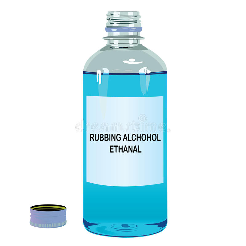 Nacieranie alkoholu Ethanal wektor royalty ilustracja