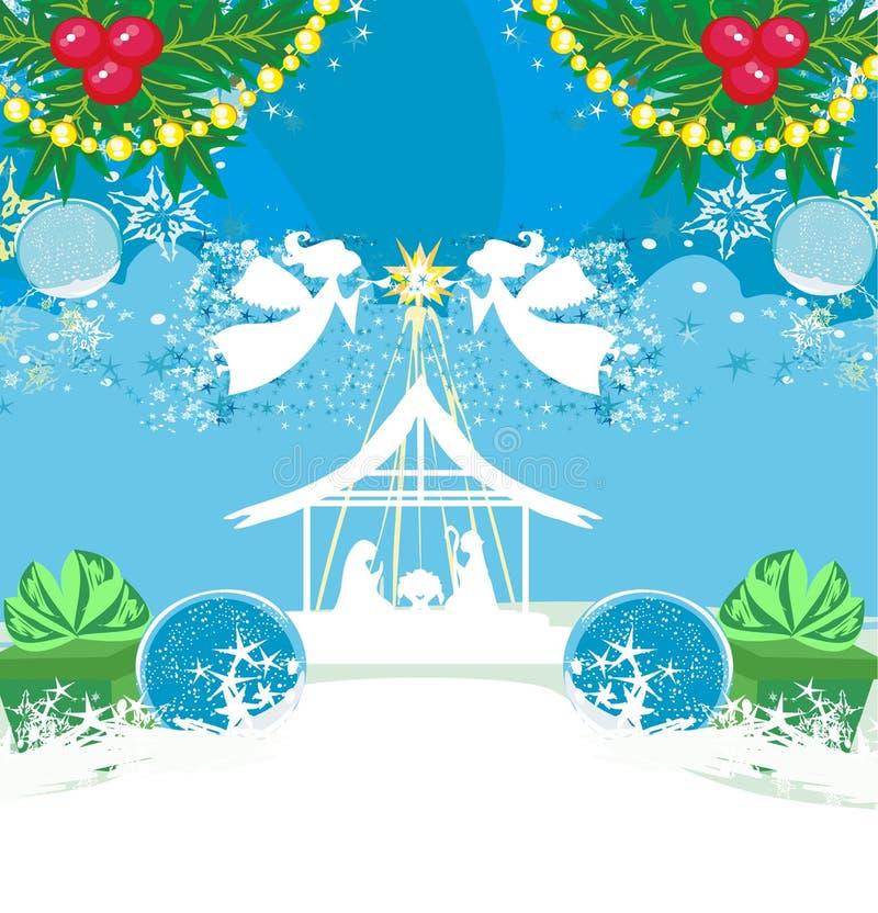 Nacimiento de Jesús en Belén - tarjeta abstracta libre illustration
