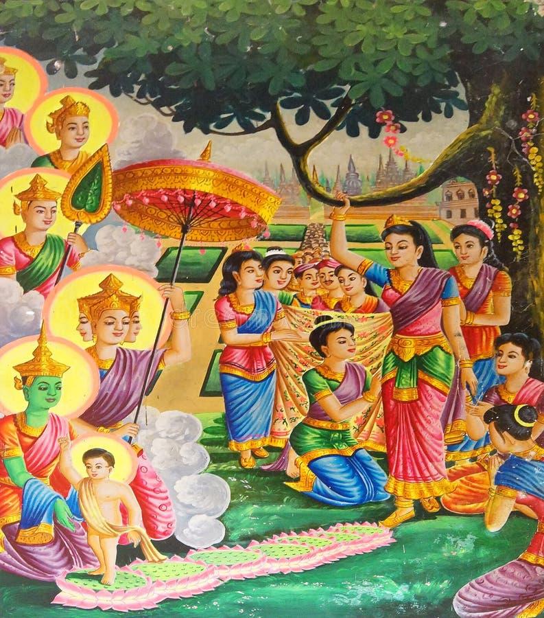 Nacimiento del Buda fotos de archivo