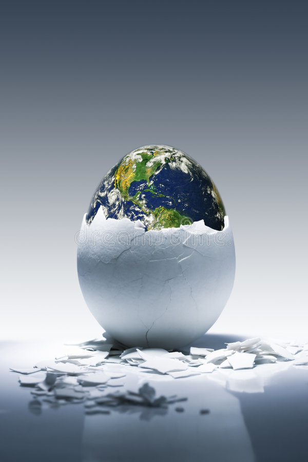 Nacimiento del planeta fotografía de archivo libre de regalías