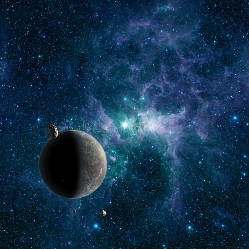 Nacimiento primordial de un nuevo mundo ilustración del vector