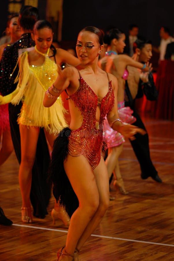Nacional de la danza del estándar internacional de Feroz-China Nanchang abierto imagen de archivo