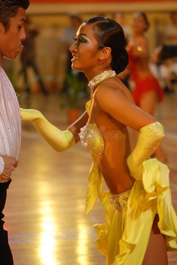 Nacional de la danza del estándar internacional del ` s ojo-China Nanchang del amante abierto fotos de archivo