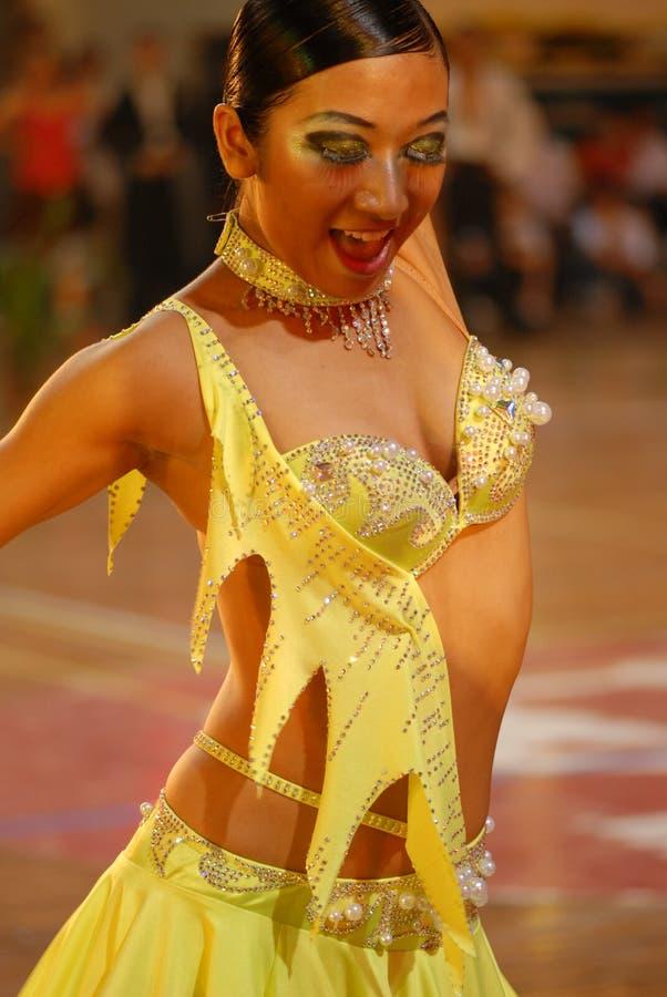 Nacional de la danza del estándar internacional de Tímido-China Nanchang abierto fotografía de archivo libre de regalías