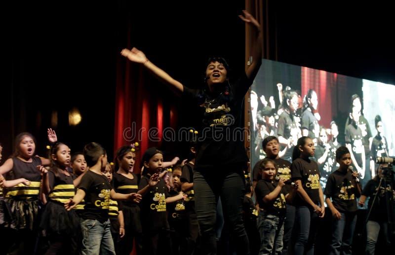 Фестиваль Nacional de Teatro Infantil Inauguracià ³ n de segundo стоковые изображения rf