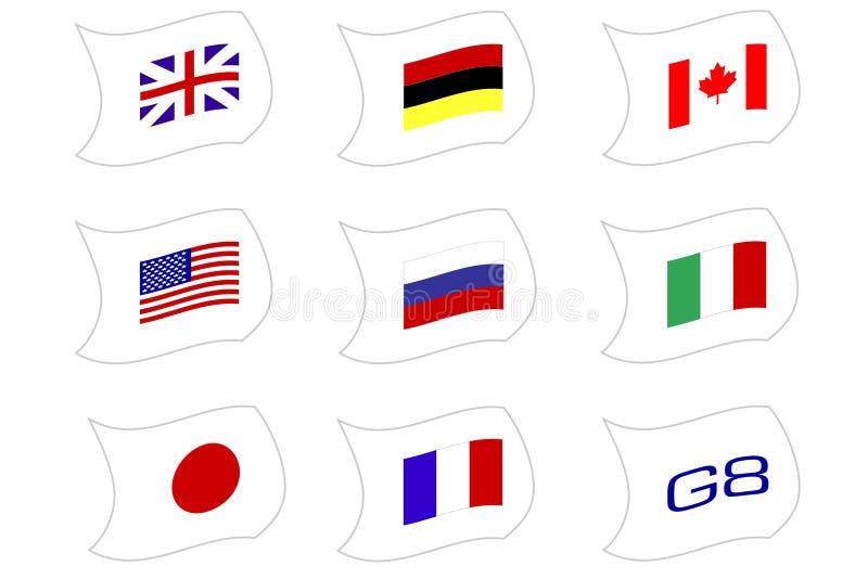 Naciones G8 ilustración del vector