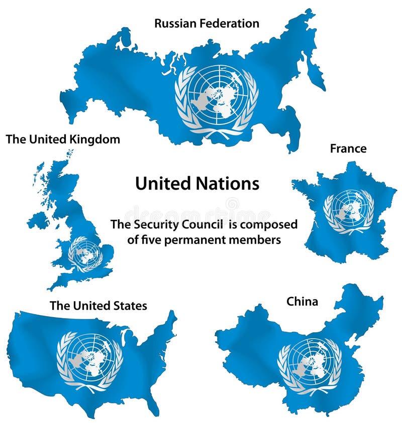 Naciones Unidas stock de ilustración
