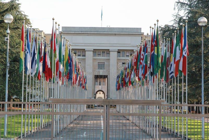 Naciones Unidas en Ginebra foto de archivo libre de regalías