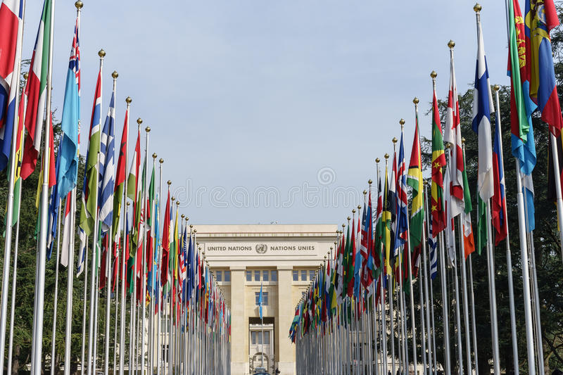 Naciones Unidas en Ginebra fotos de archivo