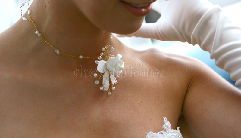 Nacklace de mariage photographie stock libre de droits