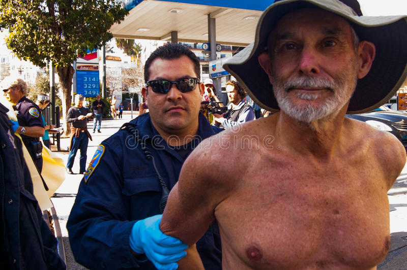 Nackte Protestierender lizenzfreie stockfotos