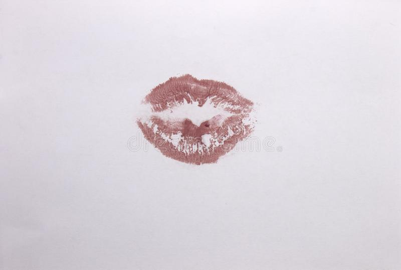 Nackter Lippenstiftlippendruck lizenzfreie stockfotografie