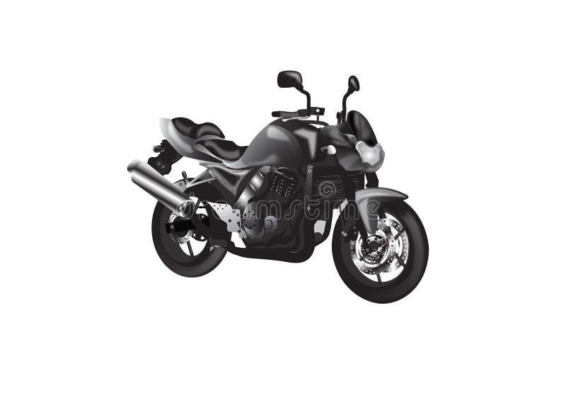 Nacktes Motorrad lizenzfreie abbildung