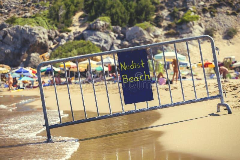 Nacktes Strandzeichen 3 lizenzfreies stockfoto