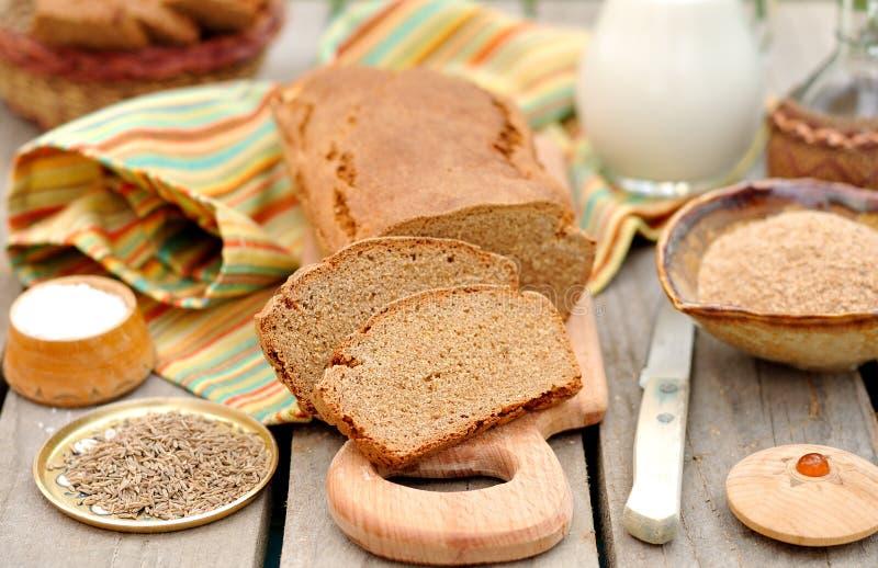 Naco cortado do pão de Rye fotografia de stock