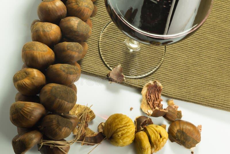 Naco de castanhas cozinhadas imagem de stock