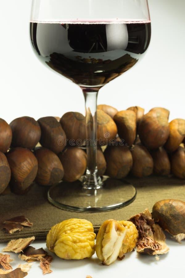 Naco de castanhas cozinhadas foto de stock