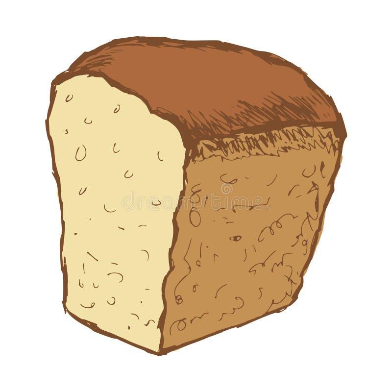 Naco de pão ilustração royalty free