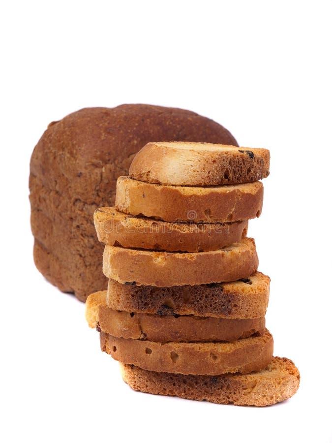 Naco do pão com rusks fotografia de stock