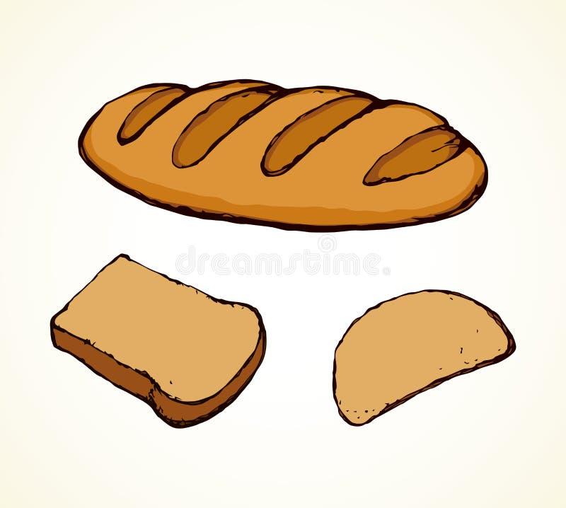 Naco do pão longo Desenho do vetor ilustração royalty free