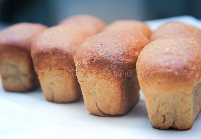 Naco do pão no fundo branco fotos de stock royalty free