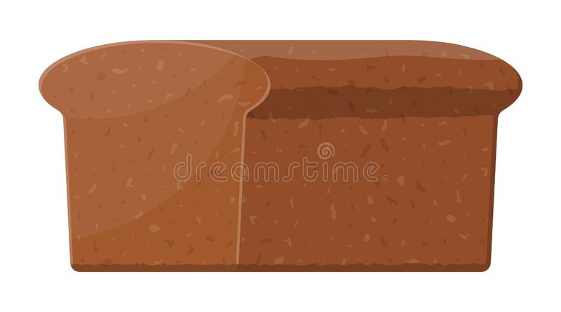 Naco do p?o de mistura Rolo de p?o de Rye Alimento cozido ilustração do vetor
