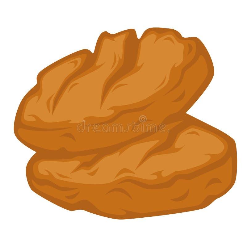 Naco dos artigos de pastelaria caseiros de pão feitos do vetor do trigo ilustração royalty free