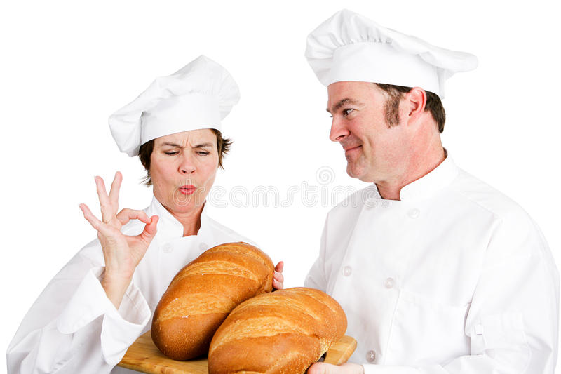 Nacos dos cozinheiros chefe de pão foto de stock royalty free
