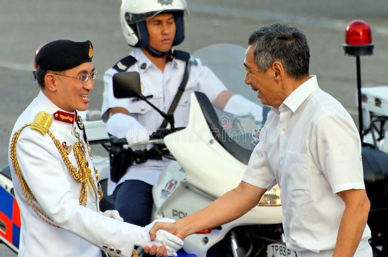 naczelni obrończy siły ministra primy powitania fotografia royalty free