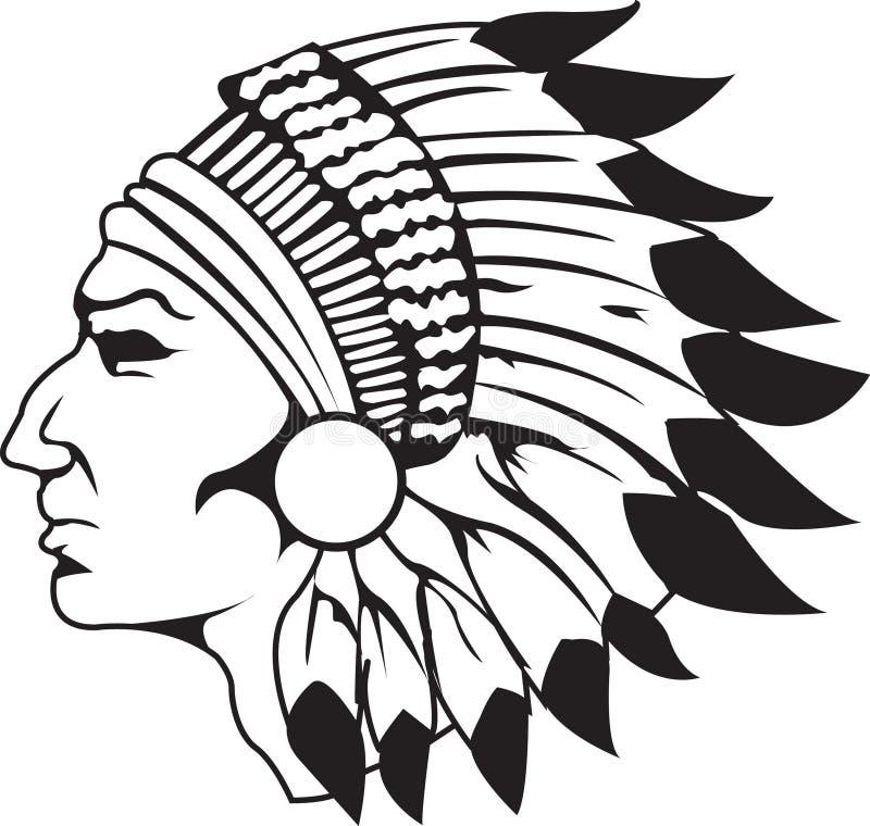 naczelny white indianką czarny zdjęcie stock