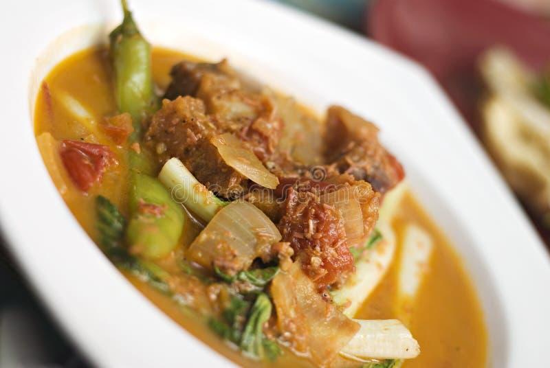 naczynia filipińczyka wieprzowina fotografia stock