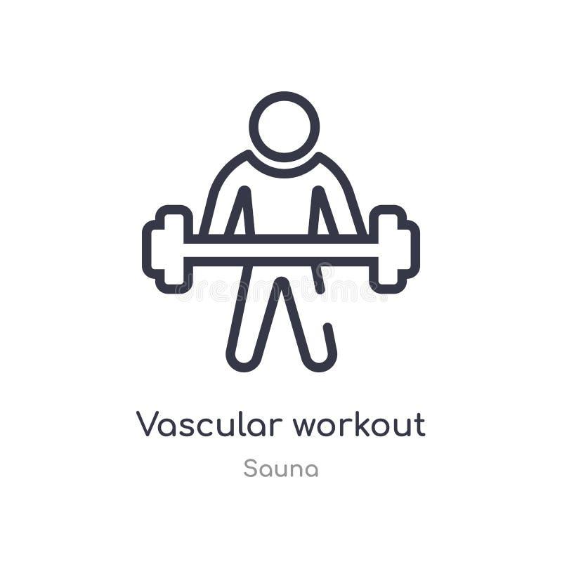 naczyniasta treningu konturu ikona odosobniona kreskowa wektorowa ilustracja od sauna kolekcji editable cienieje uderzenie trenin ilustracji