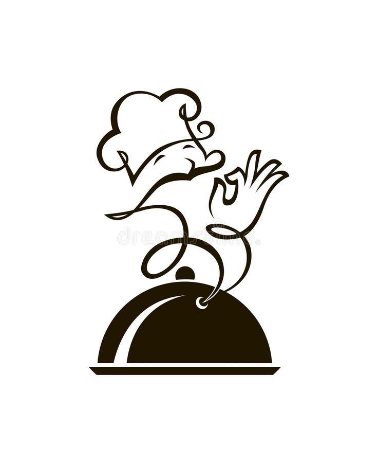 Naczynie i kucharz ilustracja wektor