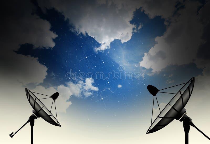 naczynie ilustracja odizolowywał wektorowego satelita biel zdjęcia royalty free