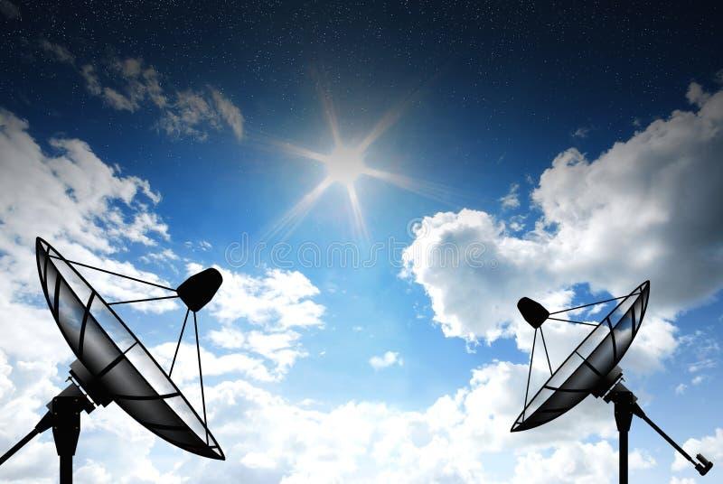 naczynie ilustracja odizolowywał wektorowego satelita biel obraz stock