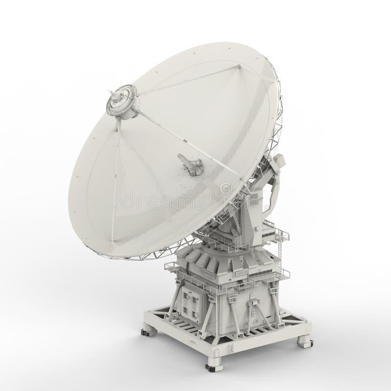 naczynie ilustracja odizolowywał wektorowego satelita biel zdjęcie stock