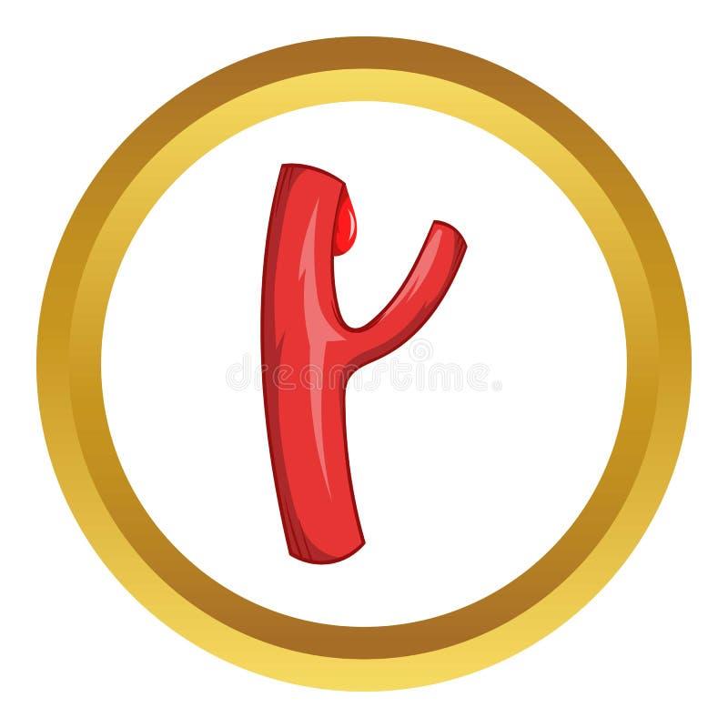 Naczynie krwionośne wektoru ikona royalty ilustracja