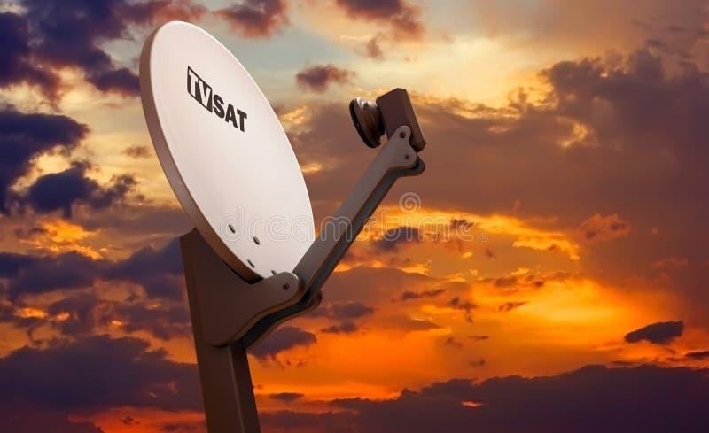 naczynie satelitarny tv ilustracji