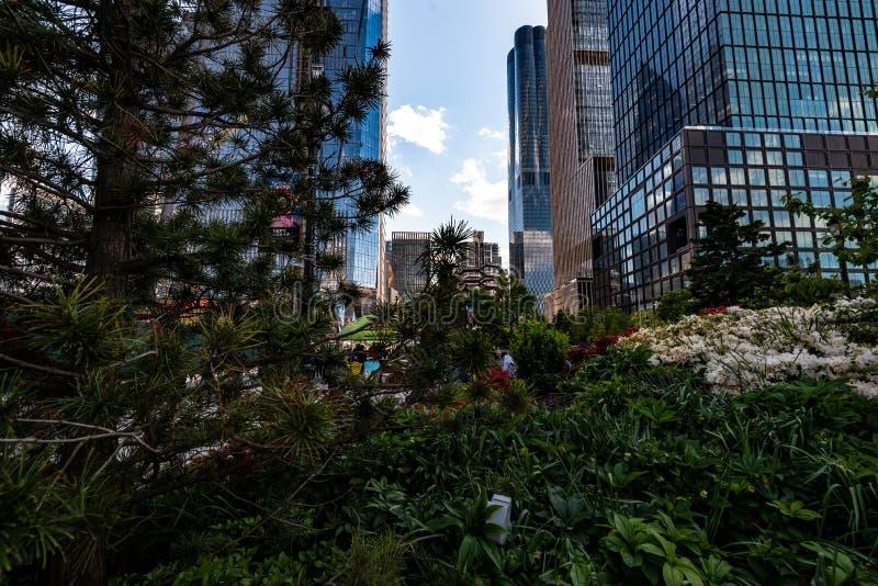 Naczynie w Hudson jardach, Nowy Jork, NY, usa obraz royalty free