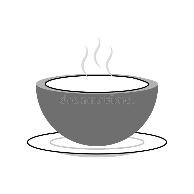 Naczynie z zupną ikoną ilustracja wektor