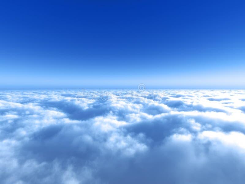 nad błękitny jaskrawy obłoczny niebo obraz stock