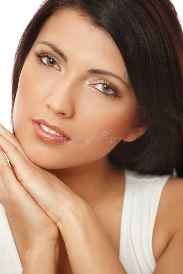 nad białą kobietą atrakcyjny tło obraz royalty free