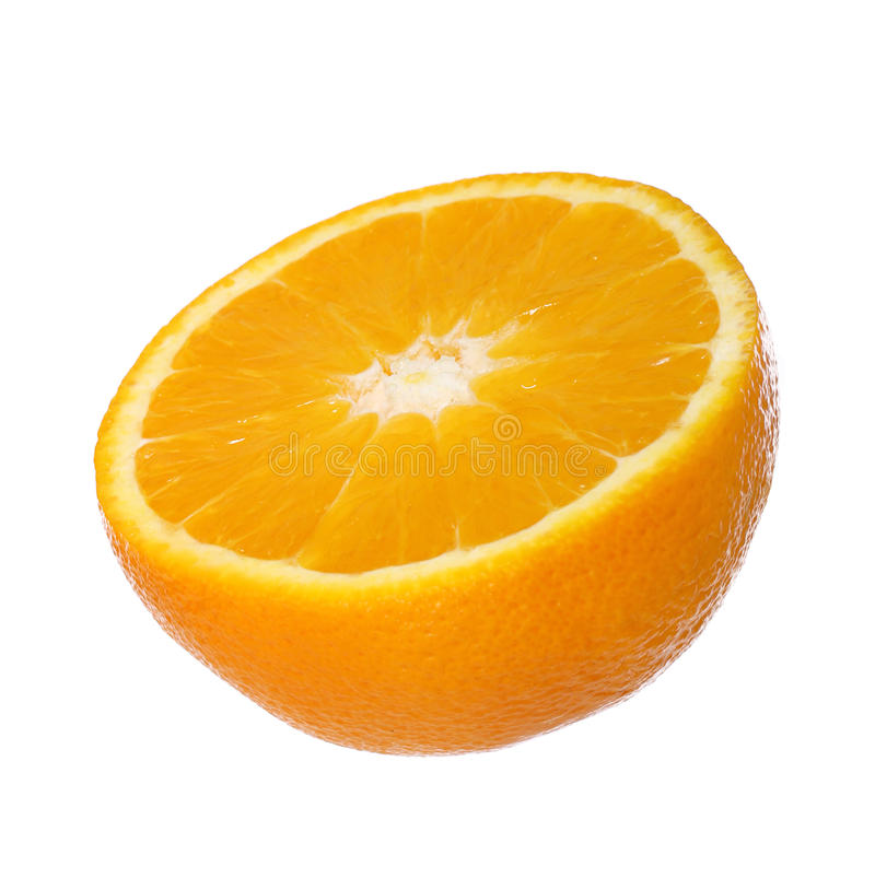 nad biel odosobniona owoc pomarańcze zdjęcie royalty free