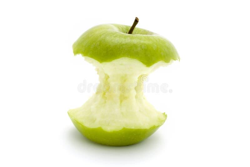 nad biel sedno jabłczana zieleń zdjęcia stock