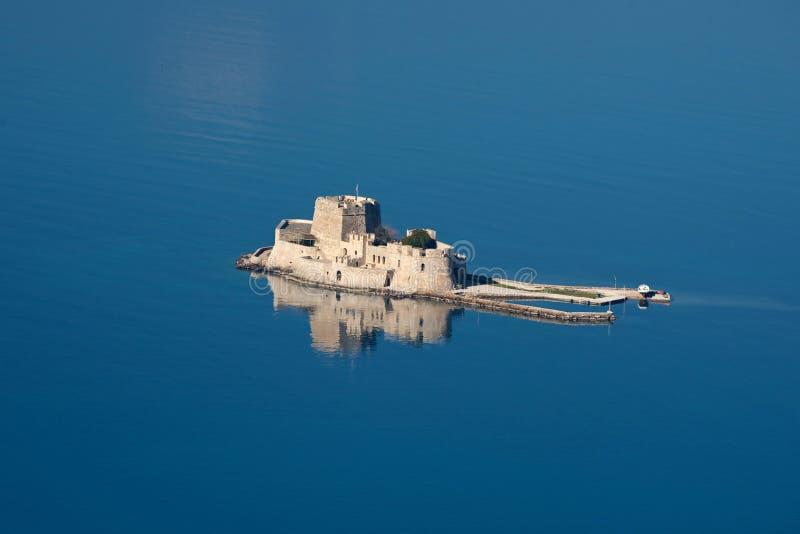nad bourtzi kasztel Greece zdjęcia stock