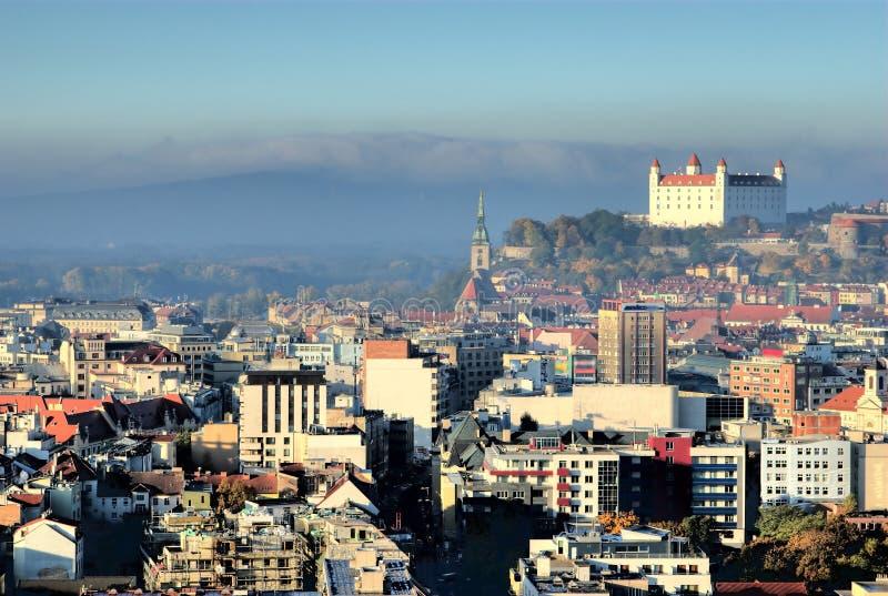 nad Bratislava clounds iii miasteczko zdjęcie stock